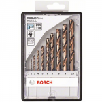Set 10 burghie pentru metal HSS-CO Robust Line 1-10mm Bosch 2608585904